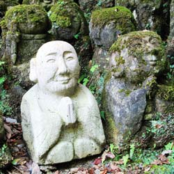 Rock statues of men